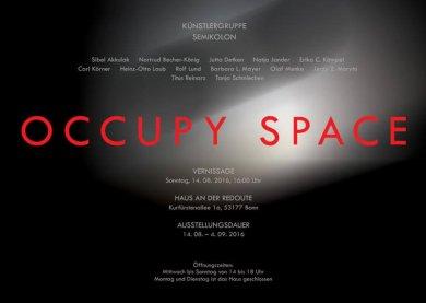 Einladung OCCUPY SPACE